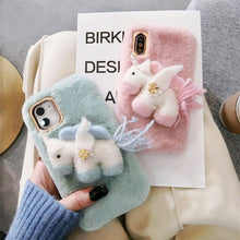 Load image into Gallery viewer, Unicorn Furry Shockproof Protective Designer iPhone Case For iPhone 11 Pro Max X XS Max XR 7 8 Plus - Casememe.com