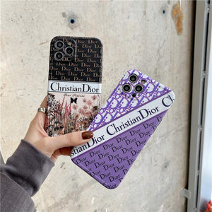Christian Dior Style Silicone Designer iPhone Case For All iPhone Models - Casememe.com