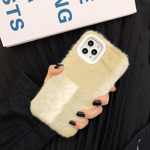 Minimalism Furry Shockproof Protective Designer iPhone Case For iPhone 11 Pro Max X XS Max XR 7 8 Plus - Casememe.com
