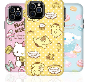 Hello Kitty Style Melody Double Layer Silicone Designer iPhone Case For iPhone SE 11 Pro Max X XS XS Max XR 7 8 Plus - Casememe.com