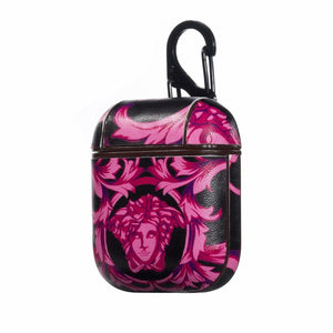 Versace Style Leather Protective Shockproof Case For Apple Airpods 1 & 2 - Casememe.com