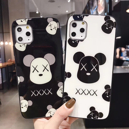 KAWS Style Glossy Shockproof Protective Designer iPhone Case For iPhone SE 11 Pro Max X XS Max XR 7 8 Plus - Casememe.com