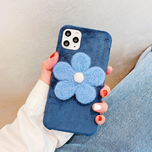 Stitch Floral Furry Shockproof Protective Designer iPhone Case For iPhone 11 Pro Max X XS Max XR 7 8 Plus - Casememe.com