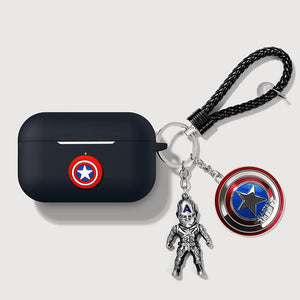 Marvel Style Captain Silicone Protective Case For Apple Airpods Pro - Casememe.com