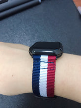 Load image into Gallery viewer, NATO Stripe Nylon Compatible With Apple Watch 38mm 40mm 42mm 44mm Band Strap For iWatch Series 4/3/2/1 - Casememe.com
