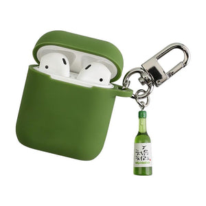 Soju Cass Korean Beer Silicone Protective Shockproof Case For Apple Airpods 1 & 2 - Casememe.com