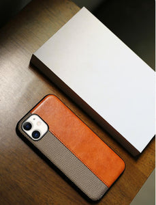 Luxury Leather Frabic Soft Protective Designer iPhone Case For iPhone SE 11 Pro Max X XS XS Max XR 7 8 Plus - Casememe.com