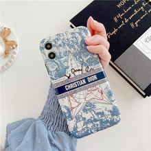Load image into Gallery viewer, Christian Dior Style Vintage Floral Shockproof Protective Designer iPhone Case For iPhone 12 SE 11 Pro Max X XS Max XR 7 8 Plus - Casememe.com