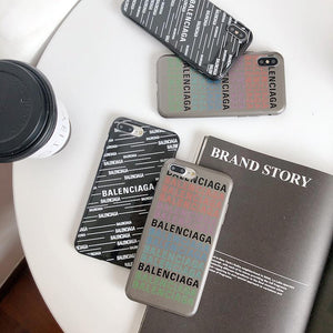 Balenciaga Style Trendy Silicone Designer iPhone Case For iPhone SE 11 Pro Max X XS Max XR 7 8 Plus - Casememe.com