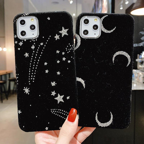 Starry Sky Furry Shockproof Protective Designer iPhone Case For iPhone SE 11 Pro Max X XS Max XR 7 8 Plus - Casememe.com