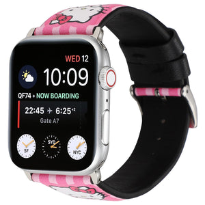 Hello Kitty Style Leather Compatible With Apple Watch iWatch 38mm 40mm 42mm 44mm Band Strap For iWatch Series 4/3/2/1 - Casememe.com