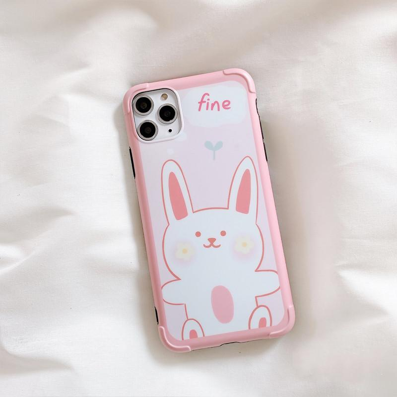 Line Friends Style Bumper Frame Shockproof Protective Designer iPhone Case For iPhone 11 Pro Max X XS Max XR 7 8 Plus - Casememe.com