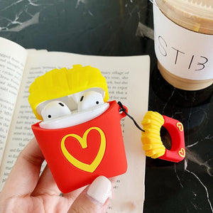 McDonald's MCD Popcorn Silicone Protective Shockproof Case For Apple Airpods 1 & 2 - Casememe.com
