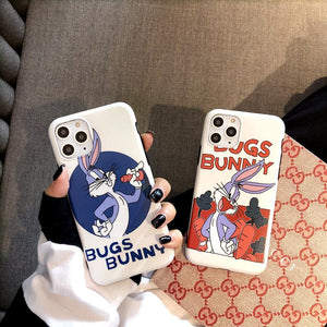 Bugs Bunny Style Silicone Shockproof Protective Designer iPhone Case For iPhone SE 11 Pro Max X XS Max XR 7 8 Plus - Casememe.com