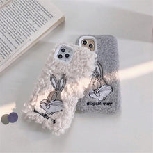 Load image into Gallery viewer, Bugs Bunny Style Embroidery Furry Shockproof Protective Designer iPhone Case For iPhone 11 Pro Max X XS Max XR 7 8 Plus - Casememe.com
