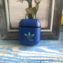 Load image into Gallery viewer, Adidas Original Style Classic Logo Leather Protective Shockproof Case For Apple Airpods 1 & 2 - Casememe.com