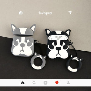Marc Jacobs Style French Bulldog Silicone Protective Shockproof Case For Apple Airpods 1 & 2 - Casememe.com