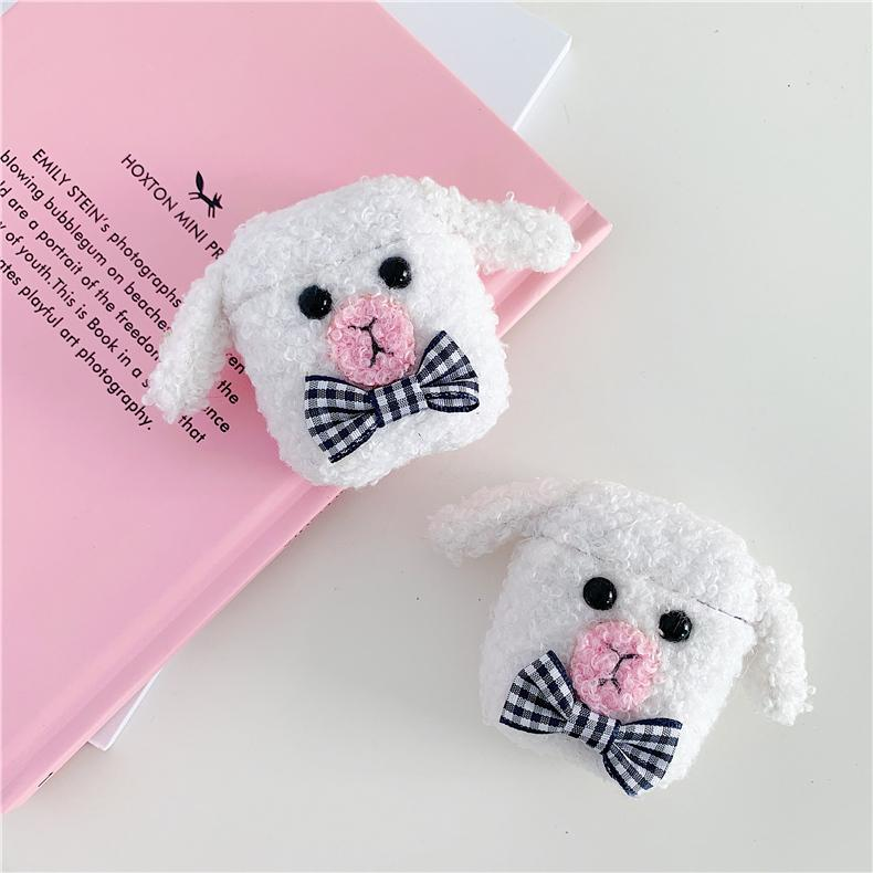 Cute Sheep Lamb Furry Protective Case For Apple Airpods 1 & 2 - Casememe.com