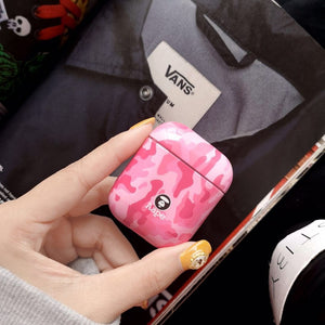 Aape Style Camo Camouflage Hard Protective Shockproof Case For Apple Airpods 1 & 2 - Casememe.com