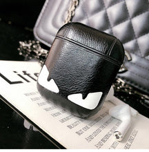 Load image into Gallery viewer, Fendi Style Little Devil Leather Protective Shockproof Case For Apple Airpods 1 & 2 - Casememe.com