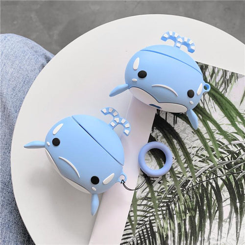 Cute Whale Silicone Protective Case For Apple Airpods Pro - Casememe.com