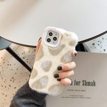 Load image into Gallery viewer, Modern Plush Furry Leopard Shockproof Protective Designer iPhone Case For iPhone 11 Pro Max X XS Max XR 7 8 Plus - Casememe.com