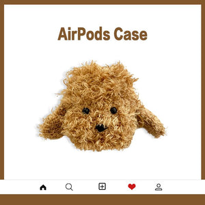 Teddy Poodle Dog Furry Protective Case For Apple Airpods 1 & 2 - Casememe.com
