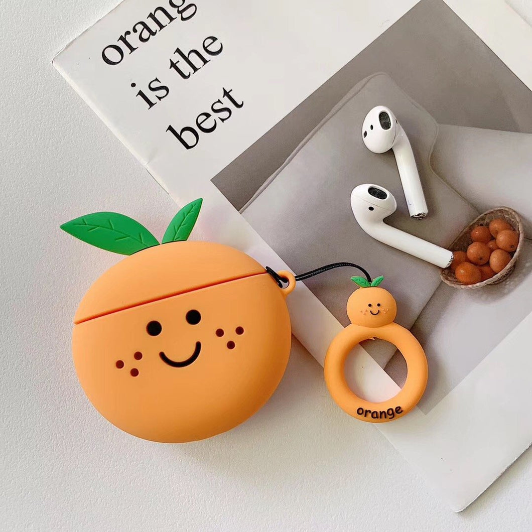 Cute Pear Peach Watermelon Orange Silicone Protective Shockproof Case For Apple Airpods 1 & 2 - Casememe.com