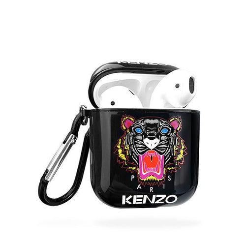 Kenzo Style Glossy Tiger Hard Silicone Protective Shockproof Case For Apple Airpods 1 & 2 - Casememe.com