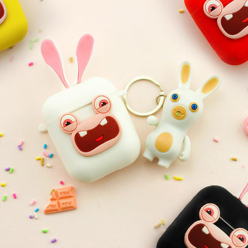 Crazy Rabbit Silicone Protective Shockproof Case For Apple Airpods 1 & 2 - Casememe.com