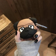 Load image into Gallery viewer, Pug Doggy Silicone Protective Case For Apple Airpods Pro - Casememe.com