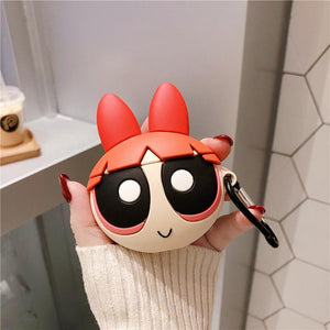 The Powerpuff Girls Style Silicone Protective Case For Apple Airpods 1 & 2 - Casememe.com