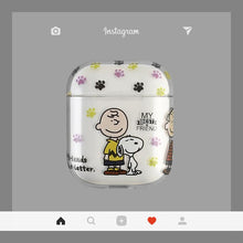 Load image into Gallery viewer, Snoopy Charlie Clear Protective Shockproof Case For Apple Airpods 1 & 2 - Casememe.com