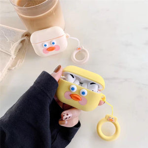 Cute Toast Dudu Duck Silicone Protective Case For Apple Airpods Pro - Casememe.com