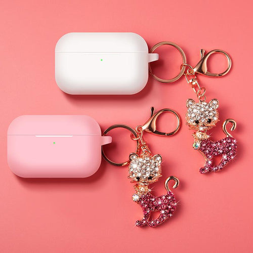 Diamond Cat Keychain Protective Case For Apple Airpods Pro - Casememe.com