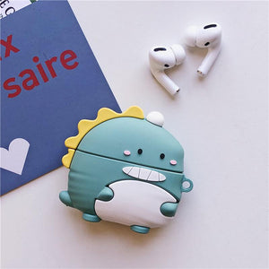 Crocodile Dinasour Silicone Protective Case For Apple Airpods Pro - Casememe.com