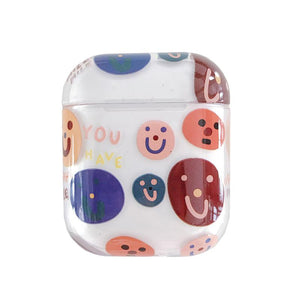 Smile Snoopy Simpsons Clear Hard Protective Shockproof Case For Apple Airpods 1 & 2