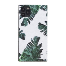 Load image into Gallery viewer, Summer Leaves Square Silicone Shockproof Protective Designer iPhone Case For iPhone SE 11 Pro Max X XS Max XR 7 8 Plus - Casememe.com