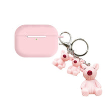 Load image into Gallery viewer, Teddy Bear Keychain Silicone Protective Case For Apple Airpods Pro - Casememe.com