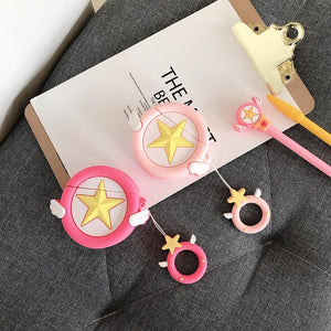 Sailor Moon Star Wing Silicone Protective Shockproof Case For Apple Airpods 1 & 2 - Casememe.com