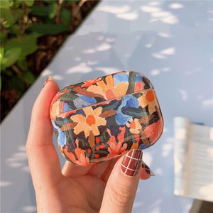 Abstract Floral Hard Protective Case For Apple Airpods Pro - Casememe.com