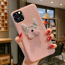 Load image into Gallery viewer, Bulldog Furry Shockproof Protective Designer iPhone Case For iPhone 11 Pro Max X XS Max XR 7 8 Plus - Casememe.com