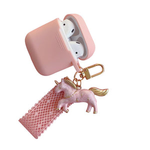 Dreamy Golden Unicorn Silicone Protective Shockproof Case For Apple Airpods 1 & 2 - Casememe.com