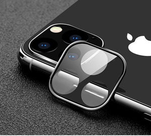 Titanium Lens Protection Tempered Glass Shockproof Designer iPhone Lens Case For iPhone 11 Pro Max - Casememe.com