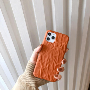 Wrinkled Silicone Shockproof Protective Designer iPhone Case For iPhone 11 Pro Max X XS Max XR 7 8 Plus - Casememe.com