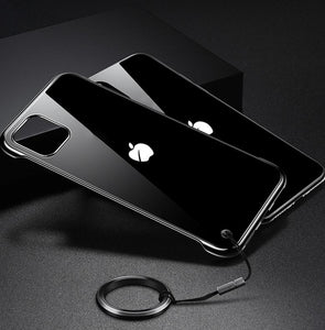 Ultrathin Shine Tempered Glass Designer iPhone Case For iPhone SE 11 Pro Max X XS XS Max XR 7 8 Plus - Casememe.com