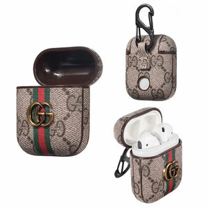 Gucci Style Marmont Leather Protective Shockproof Case For Apple Airpods 1 & 2 - Casememe.com