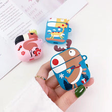 Load image into Gallery viewer, Reindeer Giraffe Flamingo Silicone Designer Protective Shockproof Case For Apple Airpods 1 & 2 - Casememe.com