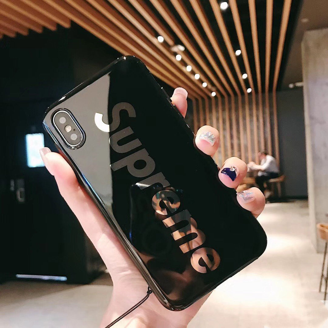 Supreme Style Glossy Electroplating Silicone Shockproof Protective Designer iPhone Case For iPhone SE 11 Pro Max X XS Max XR 7 8 Plus - Casememe.com