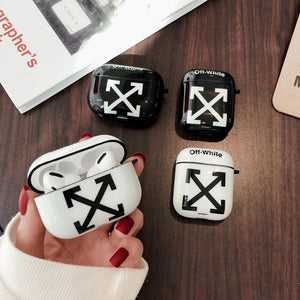 OFF-WHITE Style Matte Protective Case For Apple Airpods 1 & 2 & Pro - Casememe.com